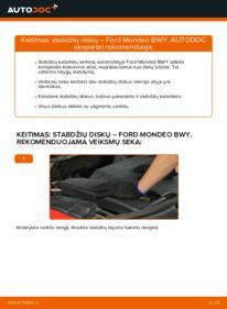 Kaip atlikti keitimą: 2.0 16V Ford Mondeo bwy Stabdžių diskas