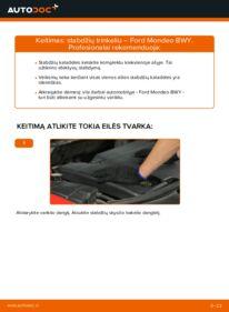 Kaip atlikti keitimą: 2.0 16V Ford Mondeo bwy Stabdžių Kaladėlės
