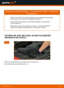 Wie der Wechsel durchführt wird: Bremsbeläge 2.0 16V Ford Mondeo Mk3 tauschen