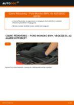 Elülső féknyereg-csere Ford Mondeo BWY gépkocsin – Útmutató