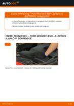 Hátsó féknyereg-csere Ford Mondeo BWY gépkocsin – Útmutató