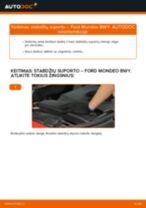 Kaip pakeisti Ford Mondeo BWY stabdžių suporto: priekis - keitimo instrukcija