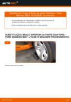 Mudar Maxilas de Travão dianteiro e traseiro FORD MONDEO III Estate (BWY): guia pdf