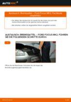 Ratschläge des Automechanikers zum Austausch von FORD Ford Focus mk2 Limousine 1.8 TDCi Bremsbeläge