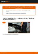 Kuinka vaihtaa jarrusatula eteen Ford Focus MK2 diesel-autoon – vaihto-ohje