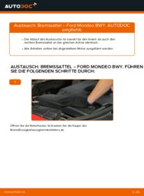 Wie der Wechsel durchführt wird: Bremssattel 2.0 16V Ford Mondeo bwy tauschen