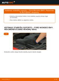 Kaip atlikti keitimą: 2.0 16V Ford Mondeo bwy Stabdžių apkaba