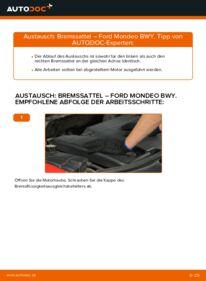 Wie der Wechsel durchführt wird: Bremssattel 2.0 16V Ford Mondeo Mk3 tauschen