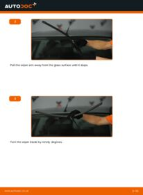 How to carry out replacement: Wiper Blades on 1.6 TDCi Ford Focus mk2 Saloon