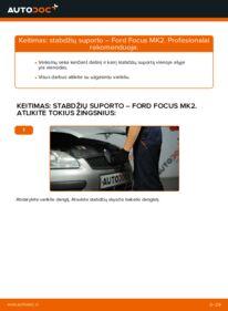 Kaip atlikti keitimą: 1.6 TDCi Ford Focus mk2 Sedanas Stabdžių apkaba