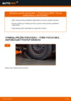 Ako vymeniť predné pružina podvozku na Ford Focus MK2 diesel – návod na výmenu