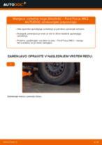Kako zamenjati avtodel vzmetna noga (blazilnik) spredaj na avtu Ford Focus MK2 diesel – vodnik menjave