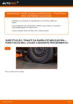Como mudar tirante da barra estabilizadora da parte dianteira em Ford Focus MK2 diesel - guia de substituição