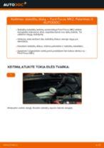 Montavimo Rėmas, stabilizatoriaus tvirtinimas FORD FOCUS II Saloon (DA_) - žingsnis po žingsnio instrukcijos