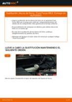 Cómo cambiar: discos de freno de la parte trasera - Ford Focus MK2 diésel | Guía de sustitución