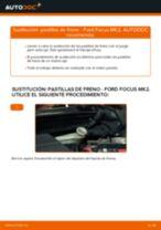 Cómo cambiar: pastillas de freno de la parte trasera - Ford Focus MK2 diésel | Guía de sustitución
