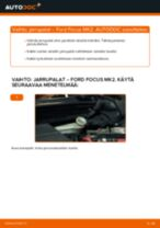 Kuinka vaihtaa jarrupalat taakse Ford Focus MK2 diesel-autoon – vaihto-ohje