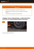 Ako vymeniť predné tyčky stabilizátora na Ford Focus MK2 diesel – návod na výmenu