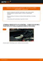 Ako vymeniť zadné brzdové platničky na Ford Focus MK2 diesel – návod na výmenu