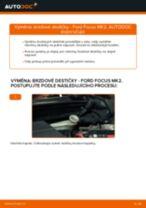 Jak vyměnit zadní brzdové destičky na Ford Focus MK2 diesel – návod k výměně