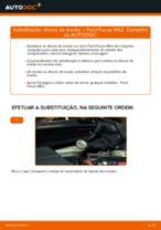 Como mudar discos de travão da parte traseira em Ford Focus MK2 diesel - guia de substituição
