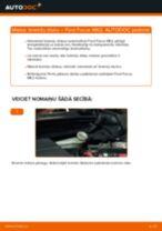 Kā nomainīt: aizmugures bremžu diskus Ford Focus MK2 dīzelis - nomaiņas ceļvedis