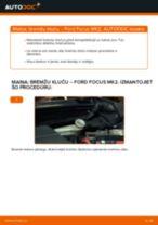 Kā nomainīt: aizmugures bremžu klučus Ford Focus MK2 dīzelis - nomaiņas ceļvedis