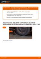 Come cambiare biellette barra stabilizzatrice della parte anteriore su Mercedes W168 - Guida alla sostituzione