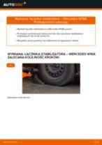 Samodzielna wymiana Drążek wspornik stabilizator przednie lewy MERCEDES-BENZ - online instrukcje pdf