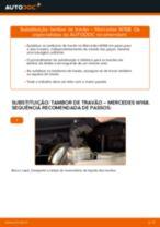 Como mudar tambores de travão em Mercedes W168 - guia de substituição