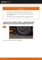 Hilfreiche Fahrzeug-Reparaturanweisung für hinten rechts Stabistrebe MERCEDES-BENZ
