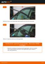 Come cambiare spazzole tergicristallo della parte anteriore su Mercedes W168 benzina - Guida alla sostituzione