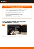 Laga Bromstrumma: pdf instruktioner för MERCEDES-BENZ A-CLASS