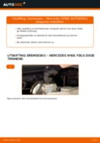 Mekanikerens anbefalinger om bytte av MERCEDES-BENZ Mercedes W169 A 150 1.5 (169.031, 169.331) Bremseklosser