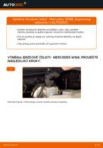 Kdy vyměnit Brzdové obloženie MERCEDES-BENZ A-CLASS (W168): příručka pdf