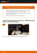 Como mudar maxilas de travão da parte traseira em Mercedes W168 - guia de substituição