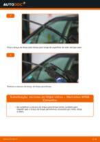 Como mudar escovas do limpa vidros da parte dianteira em Mercedes W168 gasolina - guia de substituição