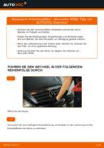 Wie Mercedes W168 Benzin Innenraumfilter wechseln - Anleitung