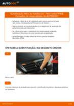 Como mudar filtro habitáculo em Mercedes W168 gasolina - guia de substituição