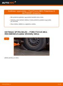 Kaip atlikti keitimą: 1.6 TDCi Ford Focus mk2 Sedanas Spyruoklės