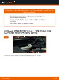 Kaip atlikti keitimą: 1.6 TDCi Ford Focus mk2 Sedanas Stabdžių Kaladėlės