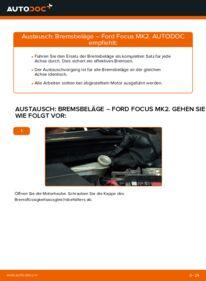 Wie der Ersatz vollführt wird: Bremsbeläge am FORD FOCUS