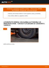 Kaip atlikti keitimą: A 140 1.4 (168.031, 168.131) Mercedes W168 Vikšro Valdymo Svirtis