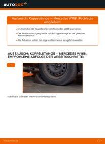 Wie der Wechsel durchführt wird: Koppelstange A 140 1.4 (168.031, 168.131) Mercedes W168 tauschen