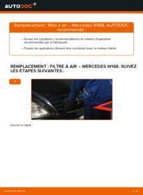Comment effectuer un remplacement de Filtre à Air sur A 140 1.4 (168.031, 168.131) Mercedes W168