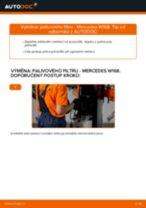 PDF návod na výměnu: Palivový filtr MERCEDES-BENZ Třída A (W168) nafta a benzín