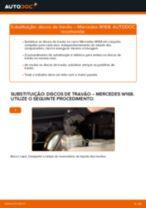 Como mudar discos de travão da parte dianteira em Mercedes W168 gasolina - guia de substituição