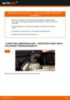 endring Bremseskiver i MERCEDES-BENZ A-CLASS (W168) – tips og triks