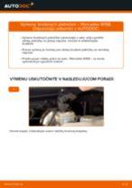 Ako vymeniť predné brzdové platničky na Mercedes W168 bensin – návod na výmenu