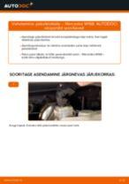 Kuidas vahetada ja reguleerida Piduriklotsid MERCEDES-BENZ A-CLASS: pdf juhend